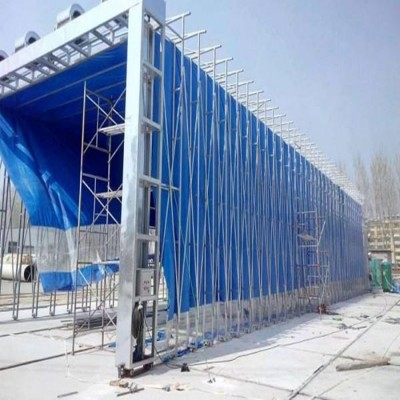 大型铸件喷漆房烘干房 露天伸缩移动房厂家