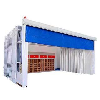 喷烘两用式移动伸缩喷漆房设计方案